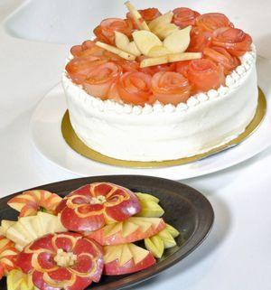 県産リンゴを使った大内さんのデザート