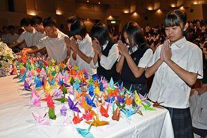 東日本大震災犠牲者の追悼行事=11日、青森市・明の星ホール