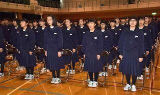 中泊・中里中学校が創立30周年式典