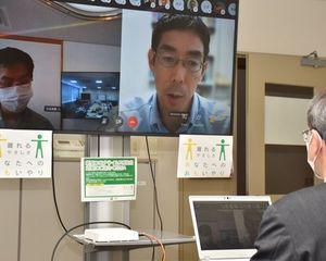 オンライン会議方式で行われた県原子力政策懇話会の専門家会合