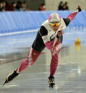 【女子1000メートル】1分21秒60で10位、総合では4位に入った前中香澄(八戸学院大)=YSアリーナ八戸
