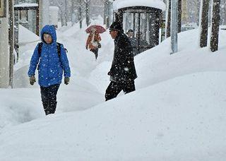 新年も雪、雪、雪…弘前で68センチ