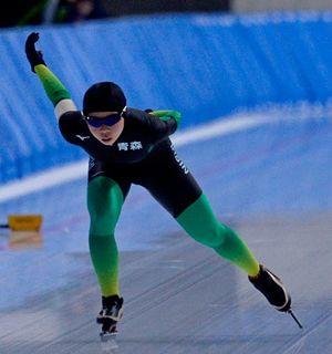 【女子1000メートル】1分27秒73で大会新記録を塗り替えた下村(八戸西)