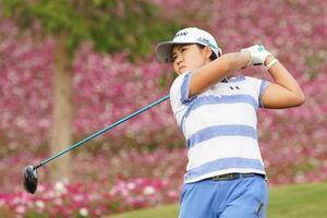 米女子ゴルフのビュイックLPGA第1日、首位発進した畑岡奈紗=17日、上海(ゲッティ=共同)