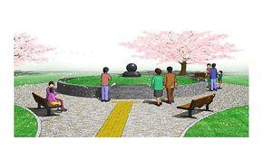 八戸市合葬墓のイメージ図(市提供)