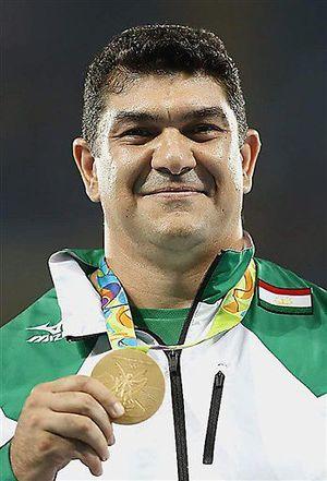 リオ五輪男子ハンマー投げで金メダルを獲得したナザロフ選手。8月末から青森市で強化合宿を行う