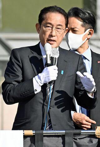 岸田首相、青森市で遊説 地方活性化訴え