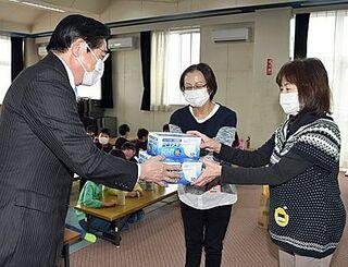 板柳町が妊婦と学童保育指導員にマスク配布