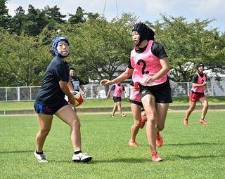国体ラグビー 初出場の青森県女子が調整