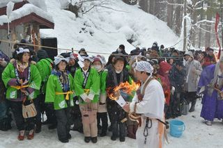 氷と炎の伝統神事に興奮!西目屋村の冬旅をご報告♪
