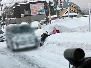 青森の通学路 住民連携し除雪