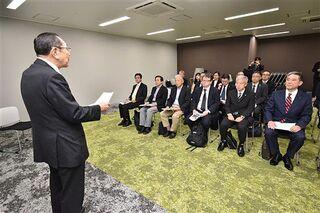 大連との経済文化協定15周年、訪問団出発