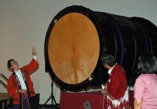 ワ・ラッセ10周年記念 桶胴6尺太鼓完成