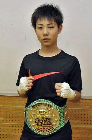 武田選手(弘前二中)2階級制覇/東北キックボクシング
