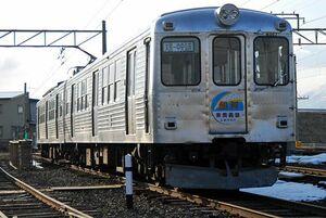 利用者減少が続いている弘南鉄道大鰐線の列車