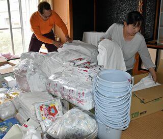 平川のNPO、豪雨被災の熊本へ救援物資