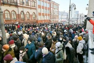 ロシア全土で反体制派の釈放要求