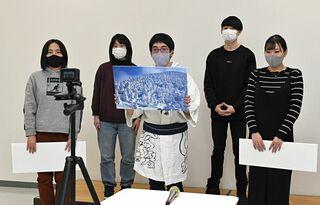青森中央学院大生がタジキスタン向け動画撮影
