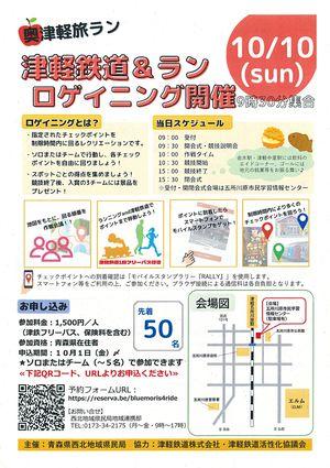 「津軽鉄道&ラン ロゲイニング」のチラシ