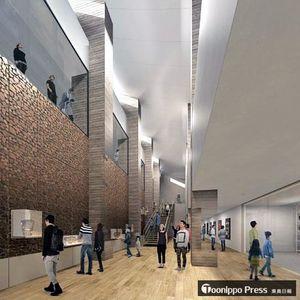 縄文時遊館の新施設地下1階廊下のイメージ図(県教委提供)