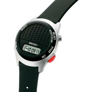 音声で時刻伝える腕時計