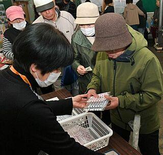 リンゴ柄マスク再販売→即完売/五所川原