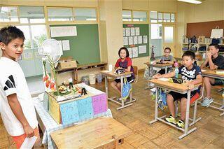 教室に笑顔/県内小中学校2学期始まる