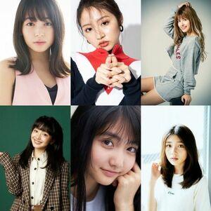 (上段左から)久間田琳加、青島妃菜、アンジェリカ(下段左から)白井杏奈 加藤咲希 宮本和奏